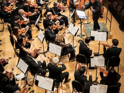 Orchestra Toronto from above at the George Weston Recital Hall, photo by Amara Studios