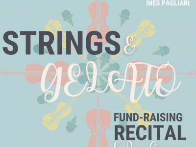 Programme cover for Strings and Gelato